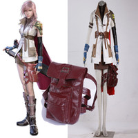 HOT Anime Character Final Fantasy XIII 13 Lightning Cosplay Bianco Cosplay Costume Set completo Panni Unisex per Halloween Party
