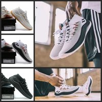 Wholesale Signature White - 2017 New D Lillard 4 Basketball Shoes Dame 4 Rip City White Black Red Un-Dyed Signature Sports For Men Brand Sneakers 7-12