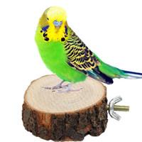 spielzeug vogelkäfig großhandel-2016 neue Verkauf Papagei Haustier Vogel Kauen Spielzeug Holz Hängen Schaukel Birdcage Sittich Nymphensittich Käfige Kostenloser Versand