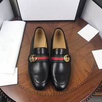Wholesale man black formal shoes - Top Quality brand Formal Dress Shoes For Gentle Men Black Genuine Leather Shoes Pointed Toe Men's Business Oxfords Casual Shoes