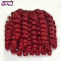 Wholesale janet braiding hair online - 8 quot Jumpy Wand Curls Crochet Braiding Hair roots Janet Curly Synthetic Crochet Hair Braids Jamaican Bounce Twist Braid Hair Extension