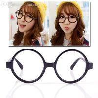 Wholesale Nerd Dress - HOT SALE-New 2pcs Unisex Fashion Round Frame Party Fancy Dress Big Nerd Eyeglasses Glasses # 31910