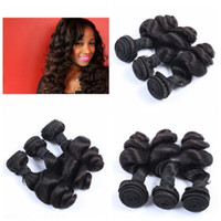 Wholesale New Star Brazilian Hair - New star wholesale price loose weave brazilian human hair extenisons weft 3bundles natural color free shipping G-EASY