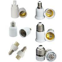 e26 e27 luces led de base al por mayor-E27 TO E40 Base de soporte LED Convertidor Base de abrazadera para E14 Tornillo E26 B22 Luz Cuña de conexión GU5.3 GU10 G9 MR16