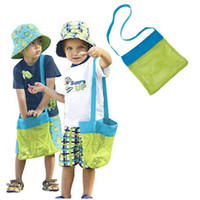 Wholesale Children S Tool - Size Small Children Sand Away Beach Mesh Bag Children Beach Toys Clothes Towel Bag Baby Toy Collection Nappy