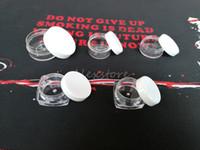 latas de maquillaje al por mayor-Envase de cera de plástico de forma redonda y cuadrada 3g 5g 10g envases de silicona de maquillaje caja de maquillaje claro caja puede frotar la herramienta de frascos de dabber