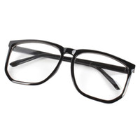Wholesale Nerd Geek Retro Glasses - Wholesale-Retro Square Eyewear Frame Unisex Mens Womens Clear Lens Nerd Geek Glasses Eyewear