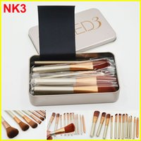 Wholesale Brushed Metal - NK3 Professional 12pcs Makeup brush Cosmetic Facial Make-up Brush Tools face and eyes Makeup Brushes Set Kit With Retail Box