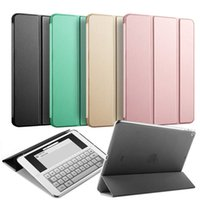 Wholesale Ipad Pu - Protective Case for New iPad 9.7 inch 2017 PU Leather Flip Smart Cases PC Back Cover Magnet Wake up Sleep Shell for Tablet A1822 A1823