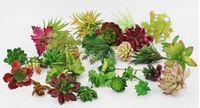 yapay bahçe bitkileri toptan satış-Simülasyon Succulents yapay çiçekler süsler mini yeşil Yapay Succulents Bitkiler bahçe dekorasyon