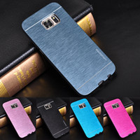 Wholesale Galaxy S4 Gold Pink - For Samsung Galaxy S7 S6 edge Motomo Aluminum Metal Case Hard Cover Protective Phone Cases For Fundas Samsung Note 5 4 S4 S5