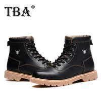 Wholesale Hunters Boots Low - Men Boots Shoes Winter Flats Mens Fashion Snow Boot Round Toe cowhide Ankle Hunter Tactical Cowboy For Australian Black Shoe