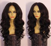 Wholesale Long Wavy Half Wigs - Fashion full lace human hair wigs wavy 7A grade brazilian virgin human hair front lace wigs 130%density DHL free shipping