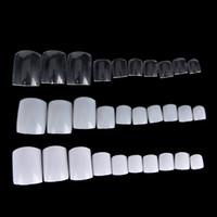 Wholesale Fake Nails Toes - Wholesale 500Pcs lot Natural Acrylic False Fake Artificial Toe Nails Tips For Nail Art Decor Toenails Foot Manicure Beauty Tools