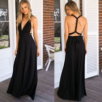 Wholesale Dress Neck Designs Out Lines - summer sexy women maxi dress red bandage long dress sexy V-neck wrap around design robe longue femme Evening Party Dresses