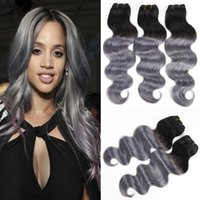 8A 1b Silver Grey Body Wave Hair Weave 3 pièces / lot Vente en gros Ombre Indian Hair Weaving Bellqueen Hair Products