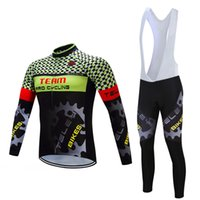 Wholesale Mens Bicycle Clothing Winter - Sky Pro Team Autumn Winter Bike Clothing Sets Bib Long Sleeves Bicycle jerseys for Mens' Outside Sports Ropa Maillot Ciclismo