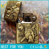 Wholesale Lol Lighter - classic League of Legends lighter Variety of style options LOL LIGHTER Cigarette lighter Windproof match Gift Metal carving