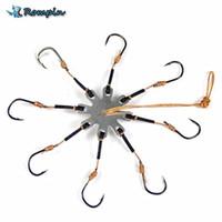 Wholesale multi hook fishhooks resale online - Rompin Explosion Fishing Hook Barbed Multi Hook Plate Tackle Capture off Ability Sharp Fishhook