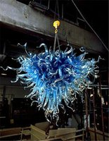 modern avizeler kalp toptan satış-Medusa Stil Mavi Cam Avize Avrupa Tarzı Modern Sanat Ev Dekorasyonu Kalp Şekle Otel Dekor Avize Üflemeli