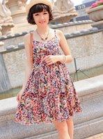 Wholesale Suspenders Pregnant - New Pop sell Maternity dress female oversize dot suspender skirt pregnant women's outside basic skirt Cute floral stylish D3338