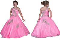 Wholesale Tier Dress For Little Girls - The Best Selling Exquisite Little Girls Dresses Layered One Shoulder Beads Backless Tiers Ball Gowns For Teen Children Floor Length Prom
