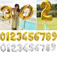 Wholesale Inflatable Mount - 40 inches Gold Silver Number Foil Balloons Large Digit Helium Ballons inflatable wedding decoration Birthday Party Supplies