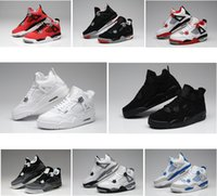 Air Retro 4 neue Pure Money Royalty White Zement gezüchtet Military Blue Fire Red Premium schwarze Frauen Basketballschuhe billig Basketball Turnschuhe