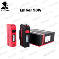 Wholesale Mini Oled - Original Dovpo Ember 50W TC Box Mod 0.69inch OLED Screen Vape Mods with Black Red Colors Fit SMOK TFV8 Nautilus Mini X