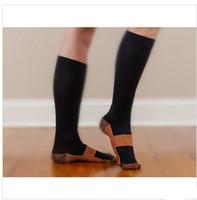 Wholesale Men Socks Black Nylon - Wholesale-New Miracle Copper Anti-Fatigue Compression Socks Soothe Tired Achy Unisex Women Men Anti Fatigue Magic S M L XL 2Pairs lot