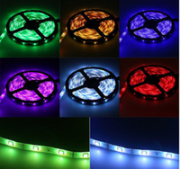 Wholesale Led Christmas Lights Power Adapter - RGB LED Strip 5050 Waterproof 5M 150LEDS SMD + 44Key IR Remote Mini Controller + 12V 2A Power Adapter Fita LED Light Strip For Christmas Day