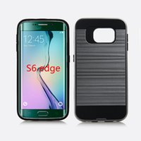 Wholesale One Case S4 - Hybrid Lars Mars Case Polish Defender Armor Phone Cover for Samsung Galaxy S4 S5 S6 S6 Edge with Retail Package 30PCS One Color