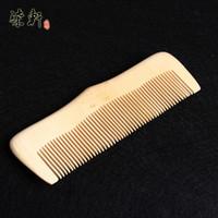 fabricantes de peines de madera al por mayor-Fabricantes al por mayor de alta calidad de caoba peine peine cuidado del cabello natural de madera de durazno peine antiestático