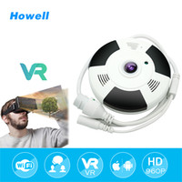 Wholesale Two Way Webcams - Howell 360 Degree Panoramic Camera IP HD 960P Home Security IP Camera Wifi Two Way Audio WebCam 1.44mm Fisheye Lens Security Camera