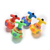 игрушечный проблесковый маячок оптовых-Wholesale- Quality Kids Children Toy LED  Music Children Toys Colourful Light Flash Gyro Peg-Top Spinning Tops