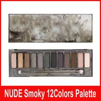 Wholesale New Arrival Nude Eyeshadow Palette - NEW ARRIVALS!Nude 12 colors eyeshadow smoky Eyeshadow Palette Best Quality Smoky Eye Shadow DHL Free shipping