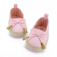 Wholesale Toddler Wholesale Price - Wholesale- Factory Price! New Kids Baby Girls Soft Soled Bowknot Crib Shoes Toddler Canvas Prewalker 0-18M