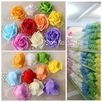 Wholesale Bulk Flowers For Crafts - flowers children 100 pcs Foam Flower Heads Bulk Cheap Artificial Flowers DIY Crafts Fake Rose Head For Wedding Decor Corsage
