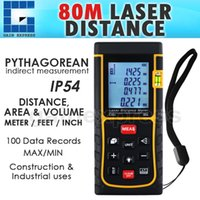 Wholesale X01RZ80 Professional Meter ft Laser Distance Area Volume Range Finder mm Accuracy with bubble spirit level tool
