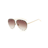 Wholesale Man Aviator Coat - Luxury Sunglasses Women Brand Designer Retro Vintage Fashion Aviator Glasses for Women Men Oculos De Sol Shades 17071