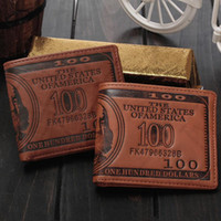 Wholesale Dollar Notes - 2016 Male Genuine Leather luxury USD wallet Casual Short designer Card holder pocket Fashion Purse Dollar wallets for men free shipping