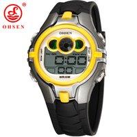 Top Verkauf Ohsen Marke Neue Led Digital Display Mens Frauen Outdoor Sport Uhren 50 Mt Wasserdicht Tauchen Gelb Mode Uhr Hombre Digitale Uhren