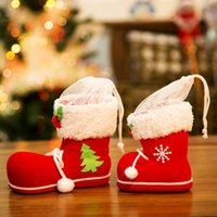Wholesale Christmas decorations candy boots Christmas ornament gift bags Creative gift Christmas socks