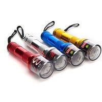 Wholesale Glass Spice Grinder - Electric Herb Tobacco Grinder Crusher Spice flashlight shaped Grinders H:14.5cm 5 colors Aluminum by with glass bong will cheap