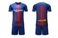 Wholesale Cheap Football Team Shirts - 2018 cheap soccer jerseys football shirts 17-18 season home away football suit 2017 high quality team soccer jerseys