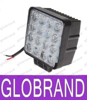 Wholesale Leds 48w - hot 3200 Lumen 48W High Power 16X 3W Bead LEDs Square Offroad LED Work Light free shipping GLO431