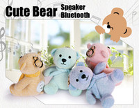 Nuovo regalo di Natale Cute Bear Speaker Bluetooth Cartoon Dolls Toy Wireless Subwoofer Altoparlanti all'aperto per bambini Natale