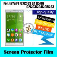 Wholesale Screen Protector Jiayu - Wholesale- 3pcs For JiaYu F1 F2 G2 G3 G4 G5 G6 G2S G3S G4S G5S S3 Clear Glossy Screen Protector, Screen Protective Film With Cloth