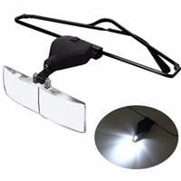 reparatur lupe großhandel-Großhandels-Spectacles-Gläser LED-Lampen-Vergrößerungsglas-Uhrenarmbänder Vergrößerungslupen-Uhr-Reparatur-Werkzeug 1.5x 2.5x 3.5x Uhren Hombre 2016