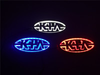 luzes kia rio venda por atacado-Estilo do carro 11.9 cm * 6.2 cm 5D Traseiro Emblema Lâmpada Emblema Logotipo levou Luz Da Lâmpada Da Etiqueta Para KIA K5 / Sorento / Soul / Forte / Cerato / Sportage / RIO